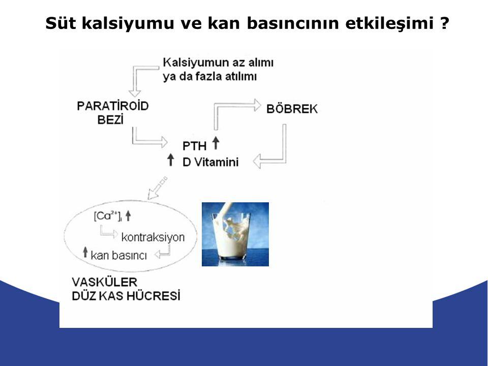 Süt kalsiyumu ve kan basıncının etkileşimi