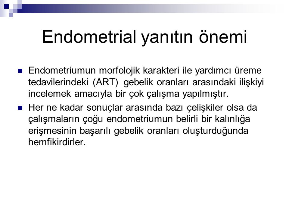 Endometrial yanıtın önemi