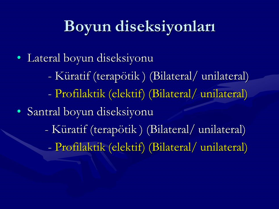 Boyun diseksiyonları Lateral boyun diseksiyonu