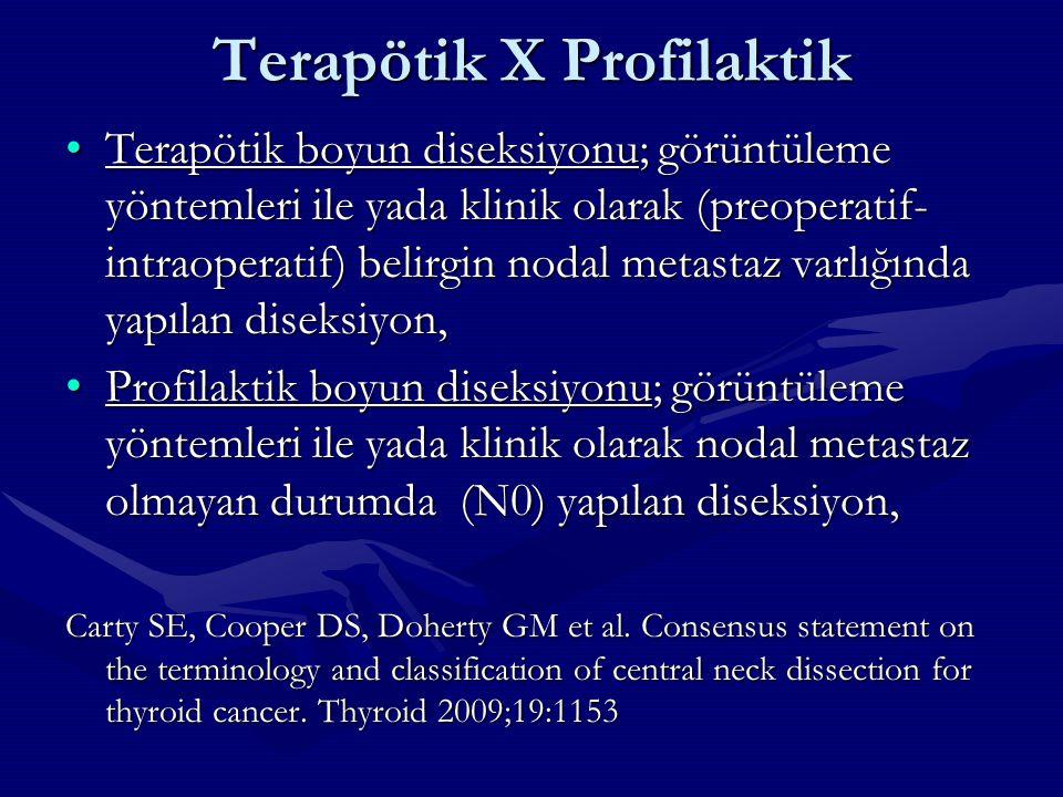 Terapötik X Profilaktik