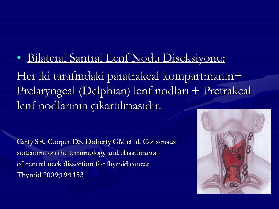 Bilateral Santral Lenf Nodu Diseksiyonu: