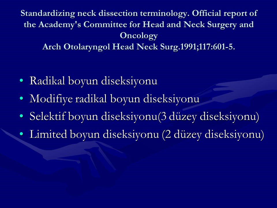 Radikal boyun diseksiyonu Modifiye radikal boyun diseksiyonu