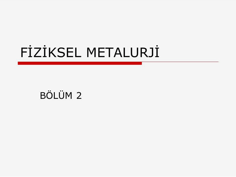 FİZİKSEL METALURJİ BÖLÜM 2