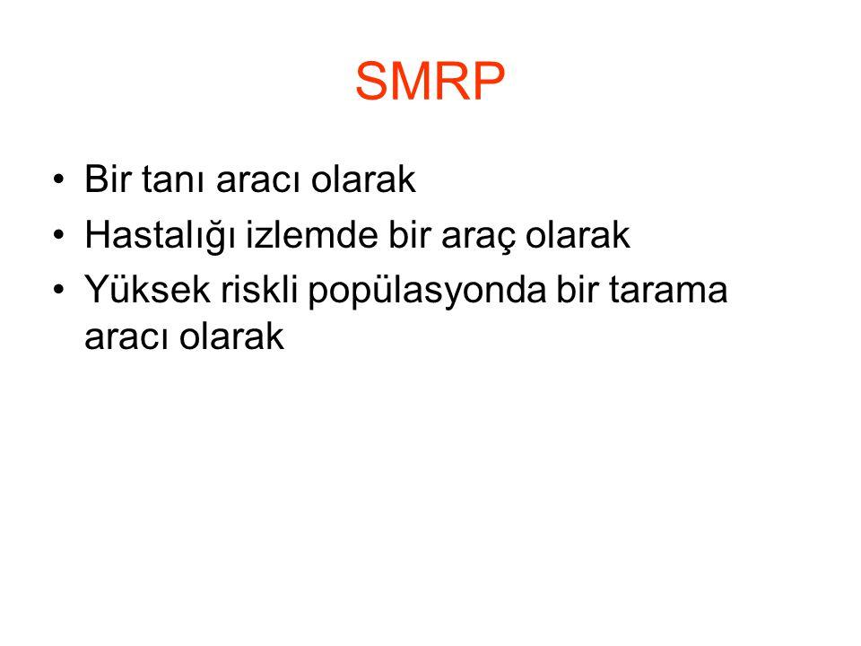SMRP Bir tanı aracı olarak Hastalığı izlemde bir araç olarak