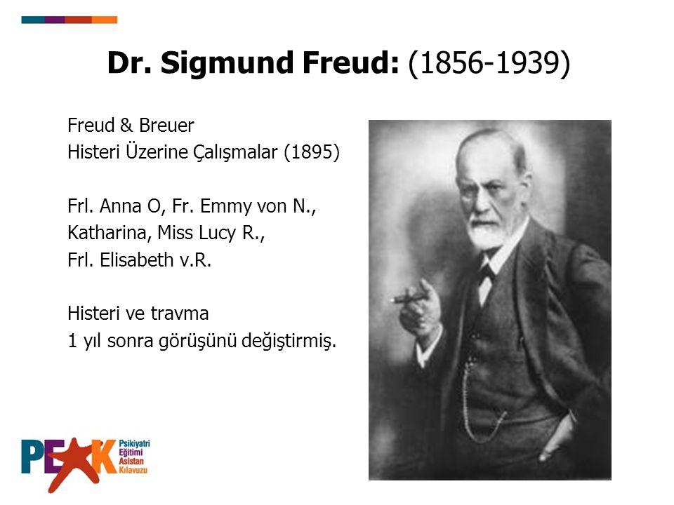 Dr. Sigmund Freud: (1856-1939) Freud & Breuer