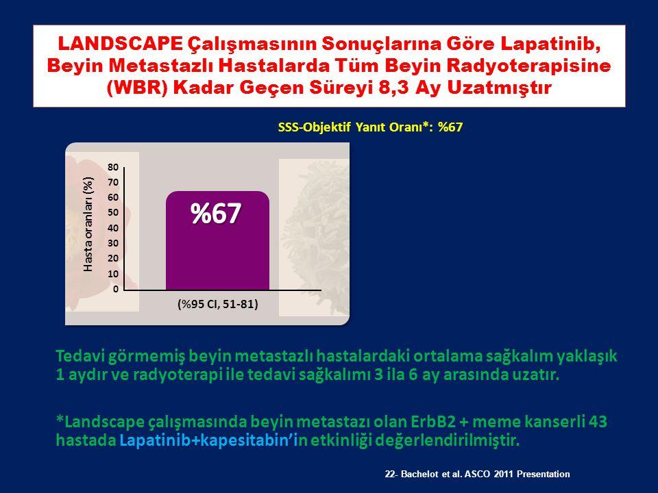 LANDSCAPE Çalışmasının Sonuçlarına Göre Lapatinib, Beyin Metastazlı Hastalarda Tüm Beyin Radyoterapisine (WBR) Kadar Geçen Süreyi 8,3 Ay Uzatmıştır