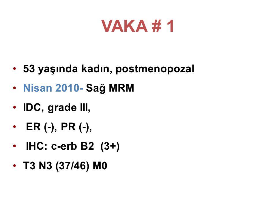 VAKA # 1 53 yaşında kadın, postmenopozal Nisan 2010- Sağ MRM