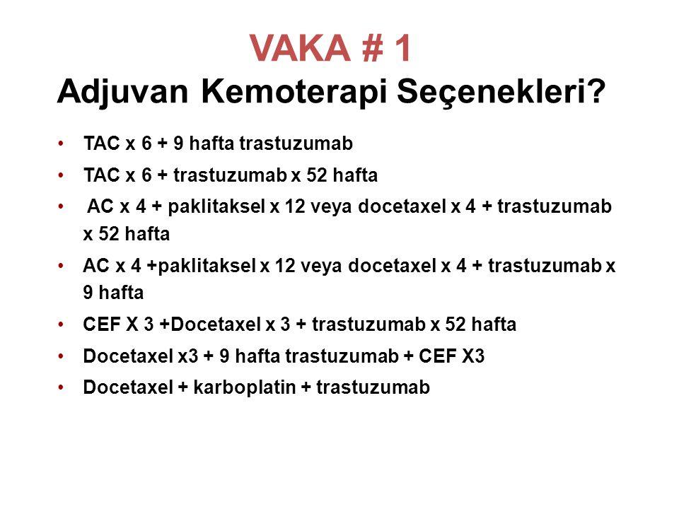 VAKA # 1 Adjuvan Kemoterapi Seçenekleri