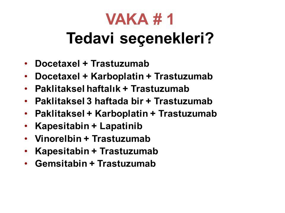 VAKA # 1 Tedavi seçenekleri