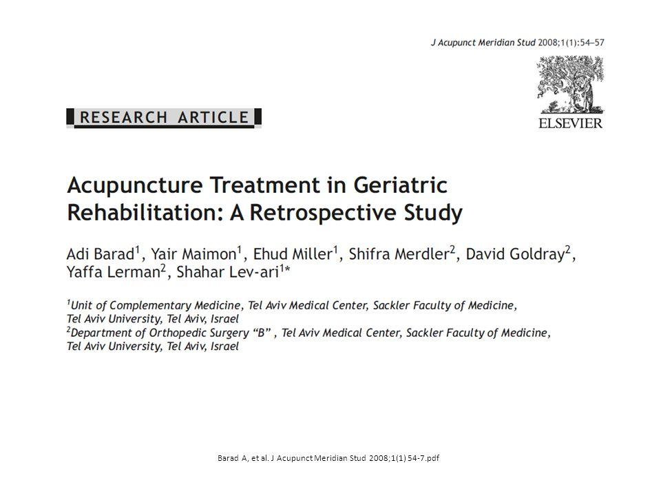 Barad A, et al. J Acupunct Meridian Stud 2008;1(1) 54-7.pdf