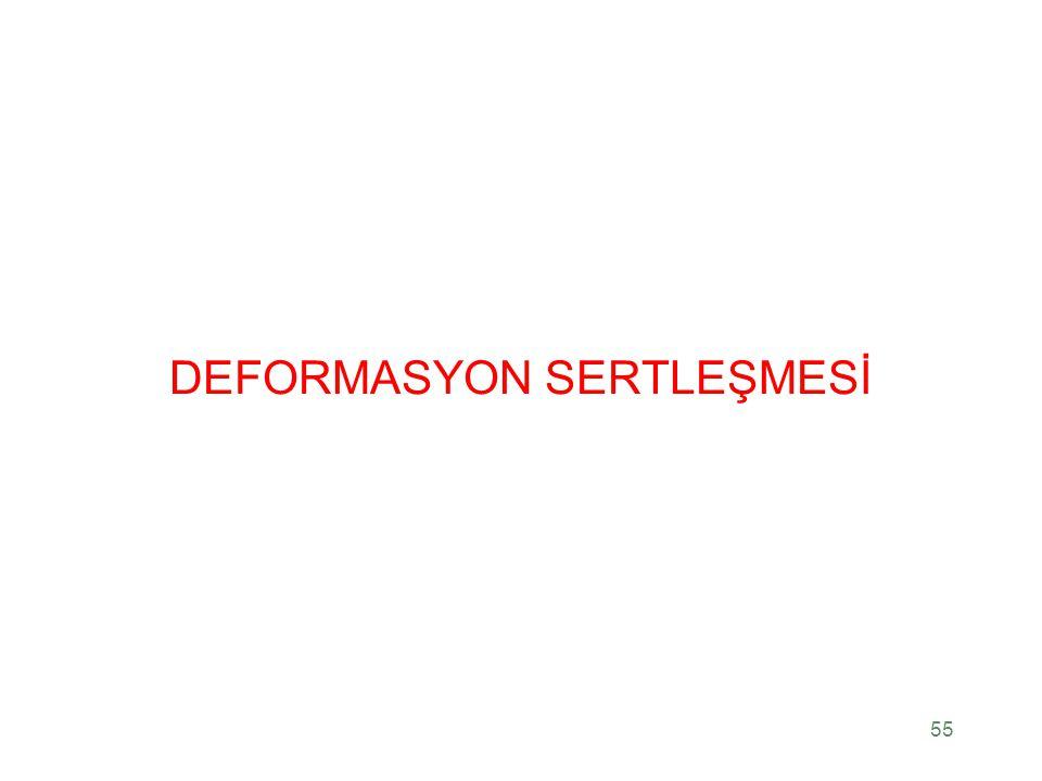 DEFORMASYON SERTLEŞMESİ