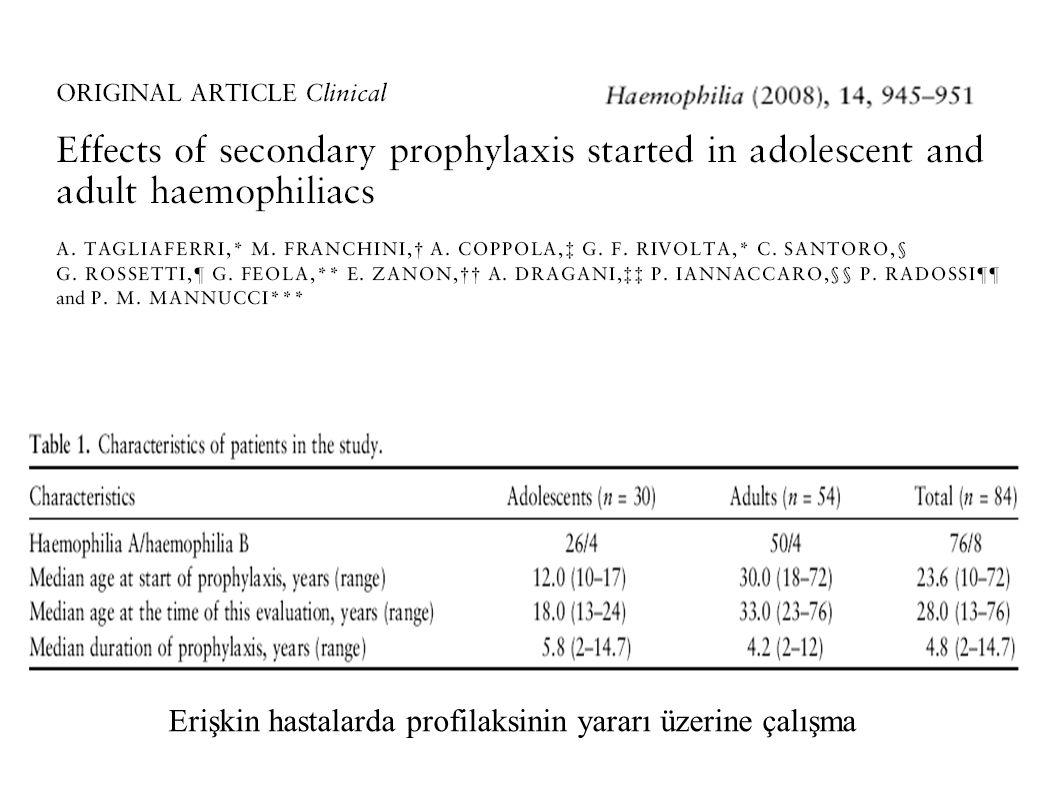 Erişkin hastalarda profilaksinin yararı üzerine çalışma