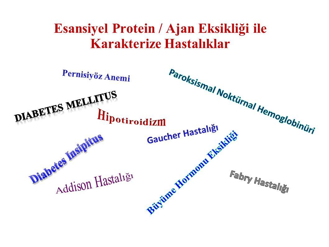Esansiyel Protein / Ajan Eksikliği ile Karakterize Hastalıklar