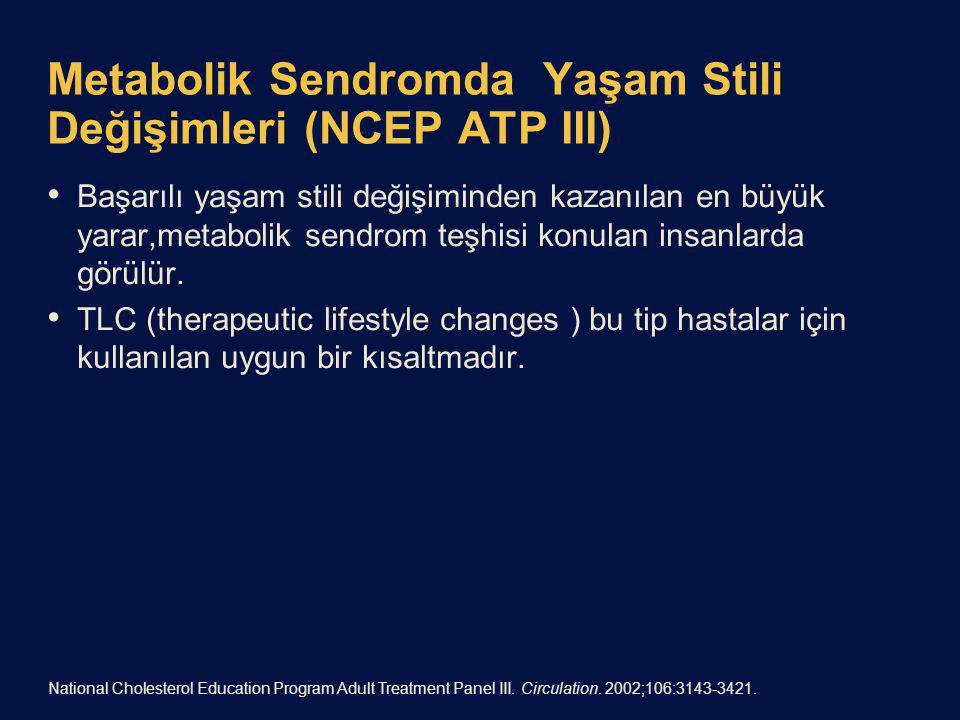 Metabolik Sendromda Yaşam Stili Değişimleri (NCEP ATP III)