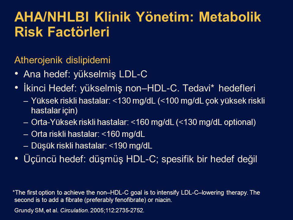 AHA/NHLBI Klinik Yönetim: Metabolik Risk Factörleri