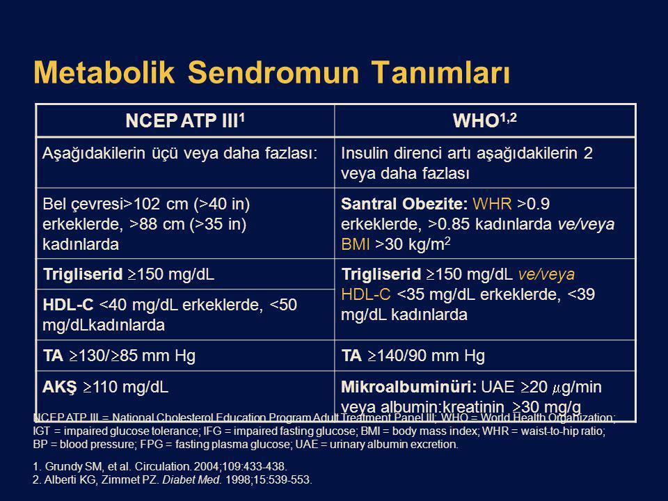 Metabolik Sendromun Tanımları