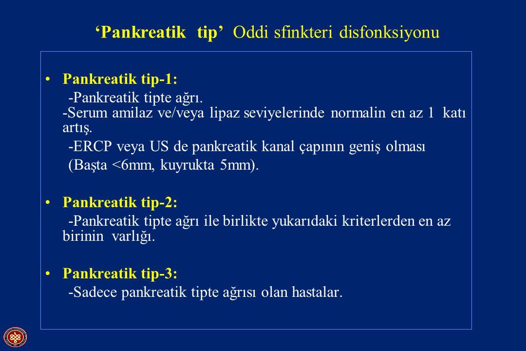 'Pankreatik tip' Oddi sfinkteri disfonksiyonu
