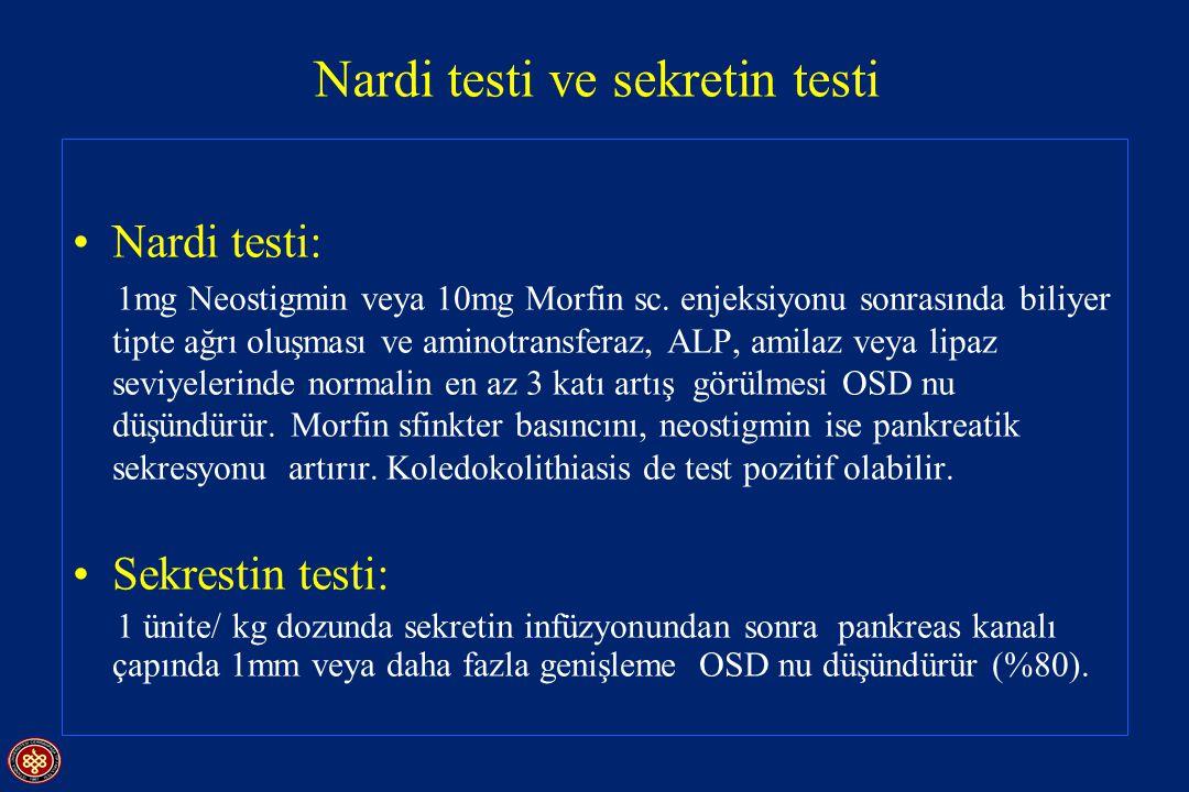 Nardi testi ve sekretin testi