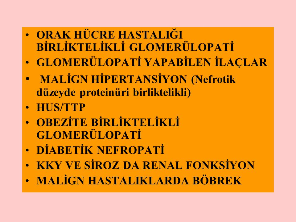 MALİGN HİPERTANSİYON (Nefrotik düzeyde proteinüri birliktelikli)