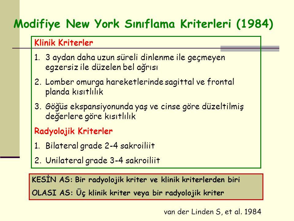Modifiye New York Sınıflama Kriterleri (1984)