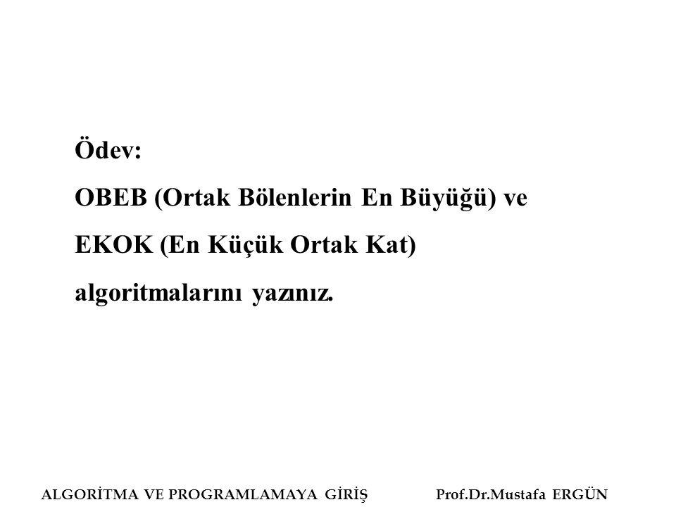 OBEB (Ortak Bölenlerin En Büyüğü) ve EKOK (En Küçük Ortak Kat)