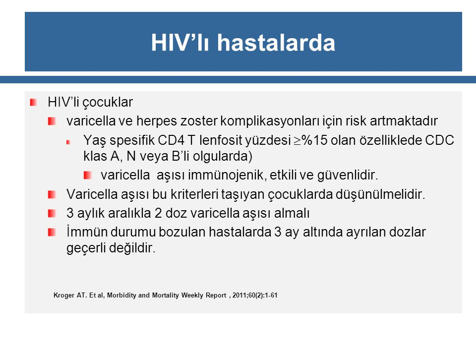 HIV'lı hastalarda HIV'li çocuklar