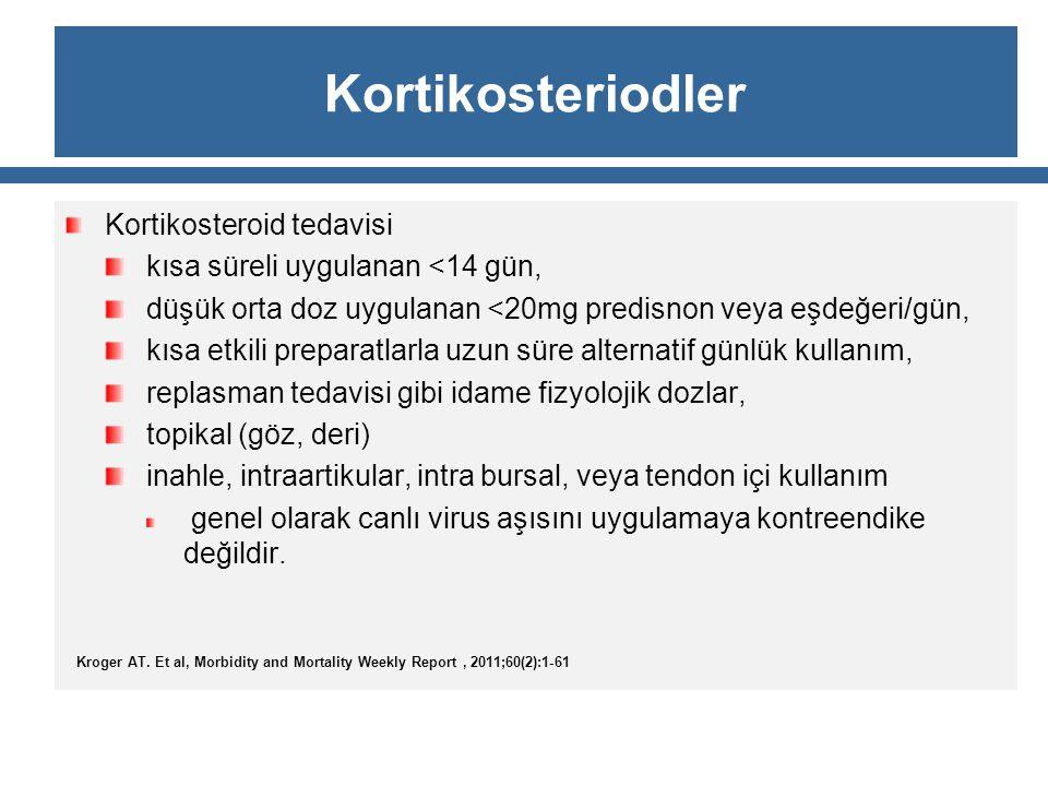 Kortikosteriodler Kortikosteroid tedavisi