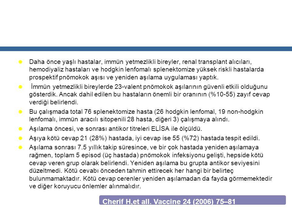 Cherif H,et all. Vaccine 24 (2006) 75–81
