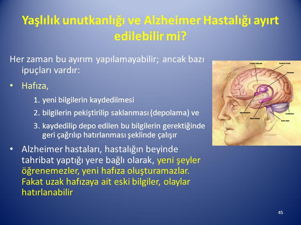 Yaşlılık unutkanlığı ve Alzheimer Hastalığı ayırt edilebilir mi