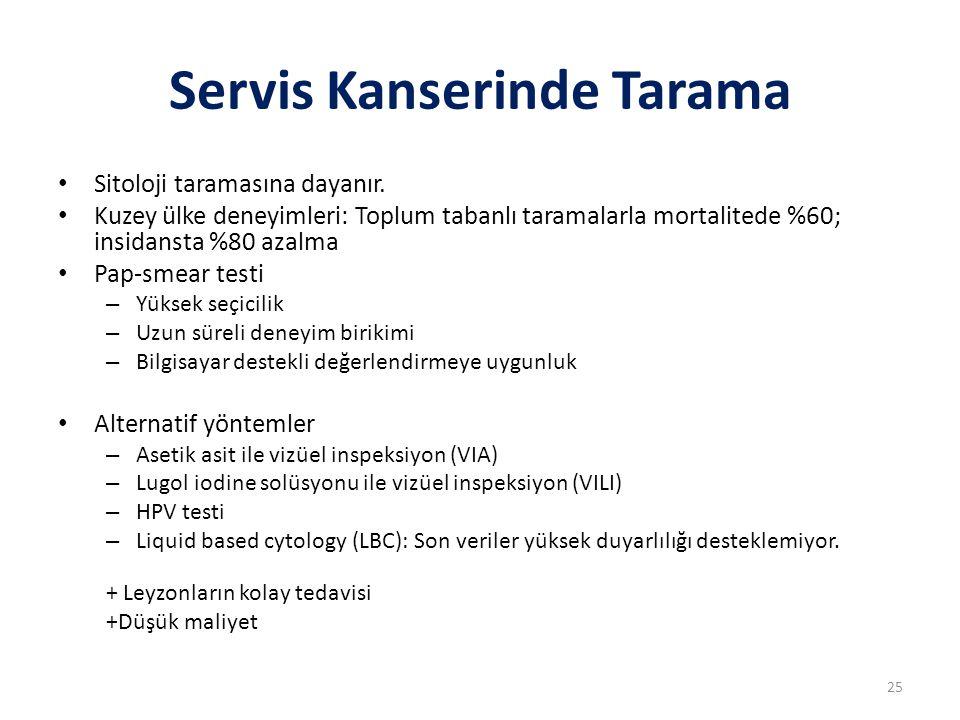 Servis Kanserinde Tarama