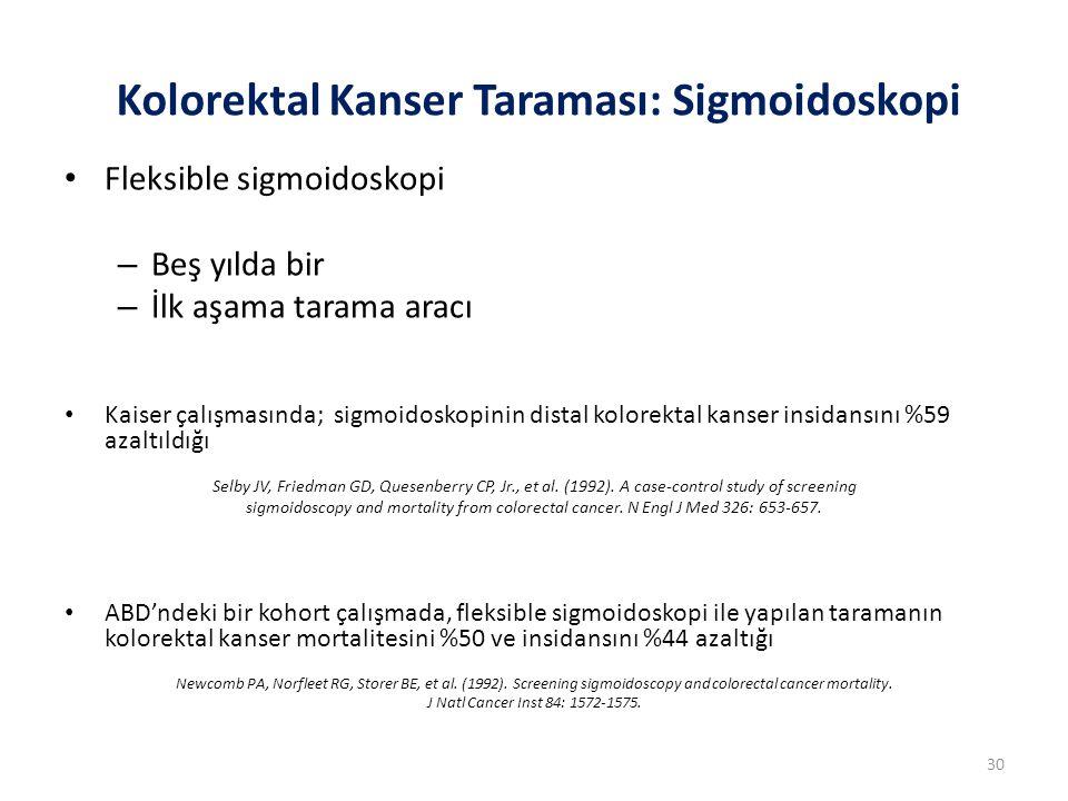 Kolorektal Kanser Taraması: Sigmoidoskopi
