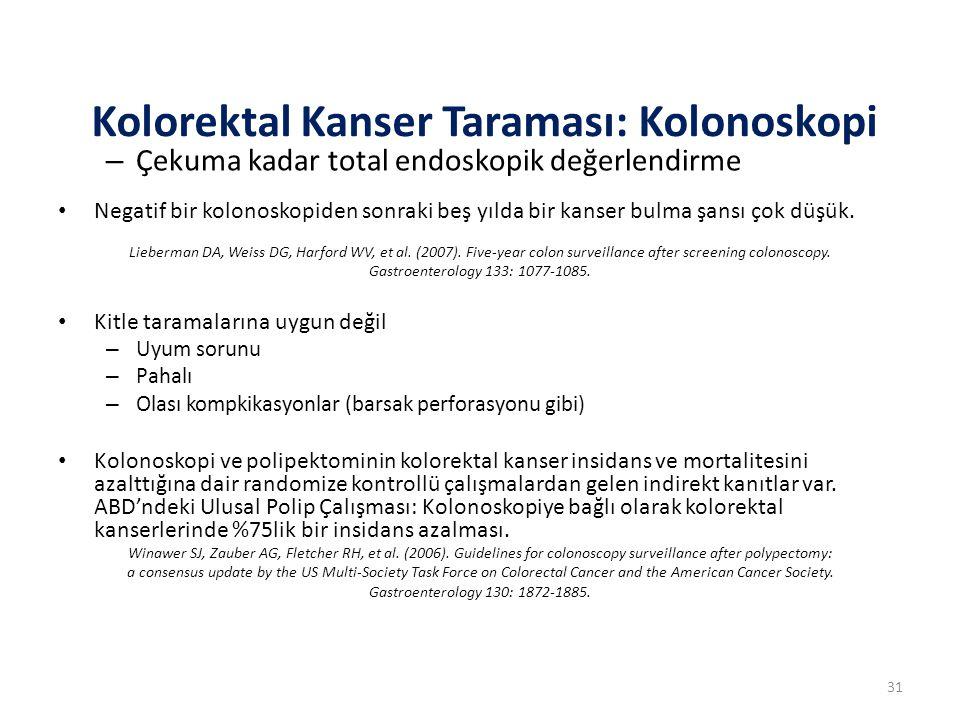 Kolorektal Kanser Taraması: Kolonoskopi