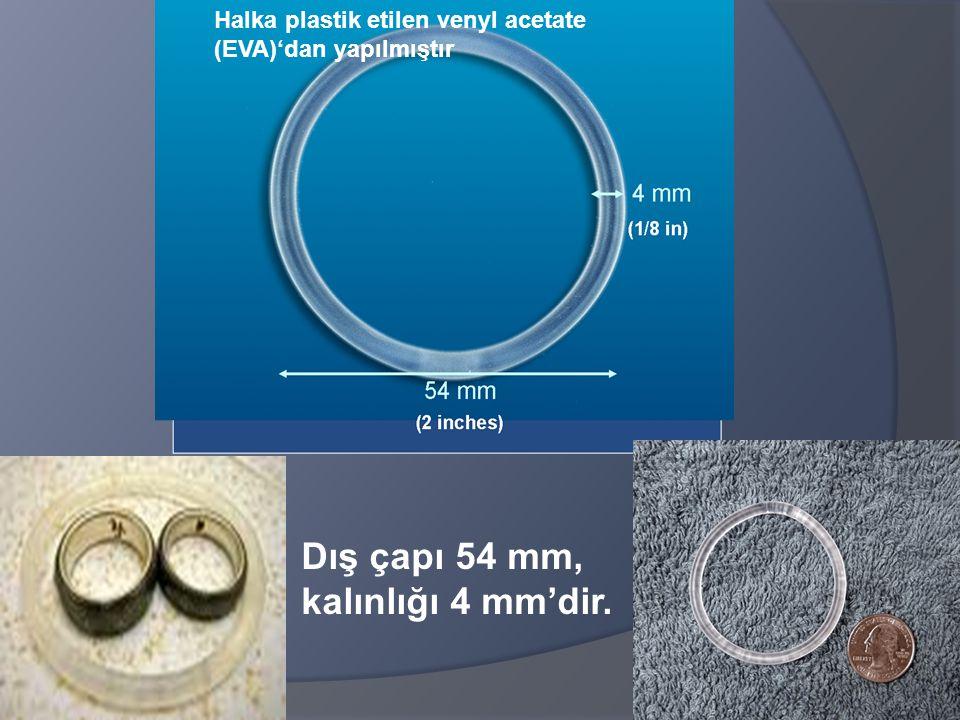 Dış çapı 54 mm, kalınlığı 4 mm'dir.