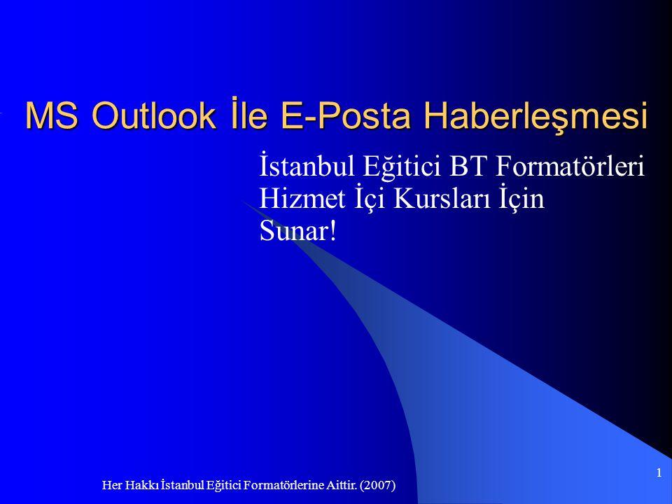 MS Outlook İle E-Posta Haberleşmesi