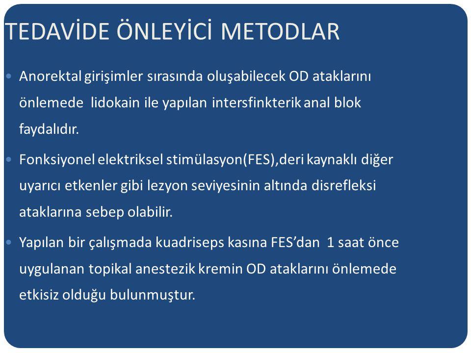 TEDAVİDE ÖNLEYİCİ METODLAR