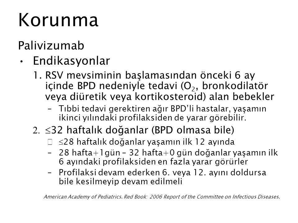 Korunma Palivizumab Endikasyonlar