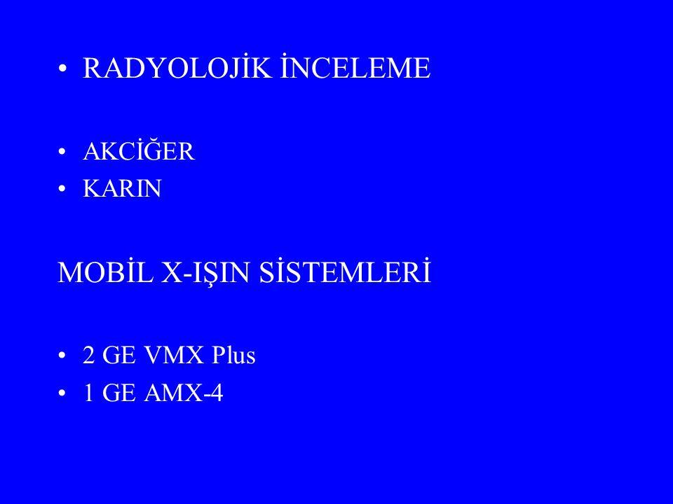 MOBİL X-IŞIN SİSTEMLERİ