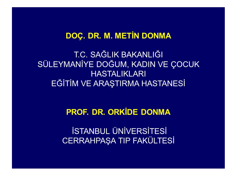 DOÇ. DR. M. METİN DONMA T.C.
