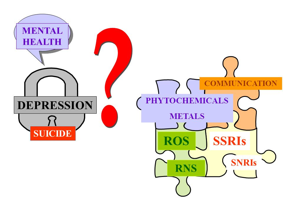 ROS SSRIs DEPRESSION RNS MENTAL HEALTH SUICIDE SNRIs PHYTOCHEMICALS