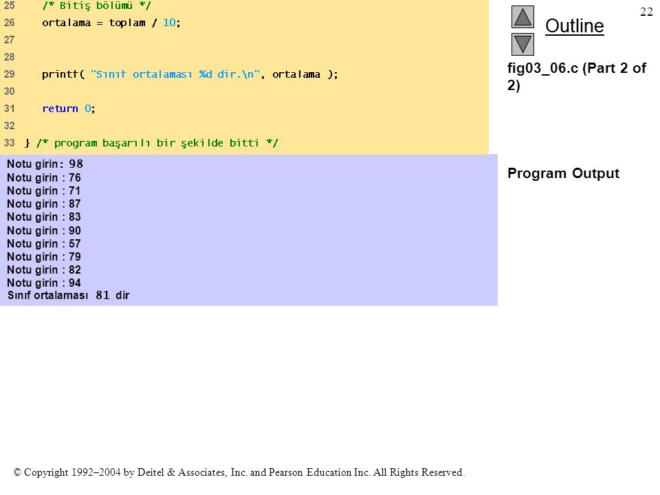 fig03_06.c (Part 2 of 2) Program Output