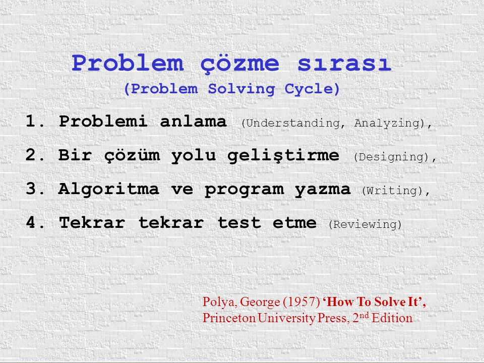 (Problem Solving Cycle)