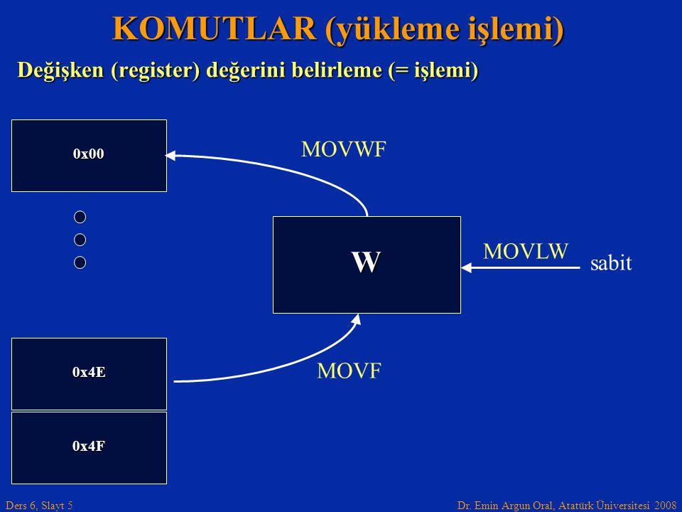 KOMUTLAR (yükleme işlemi)