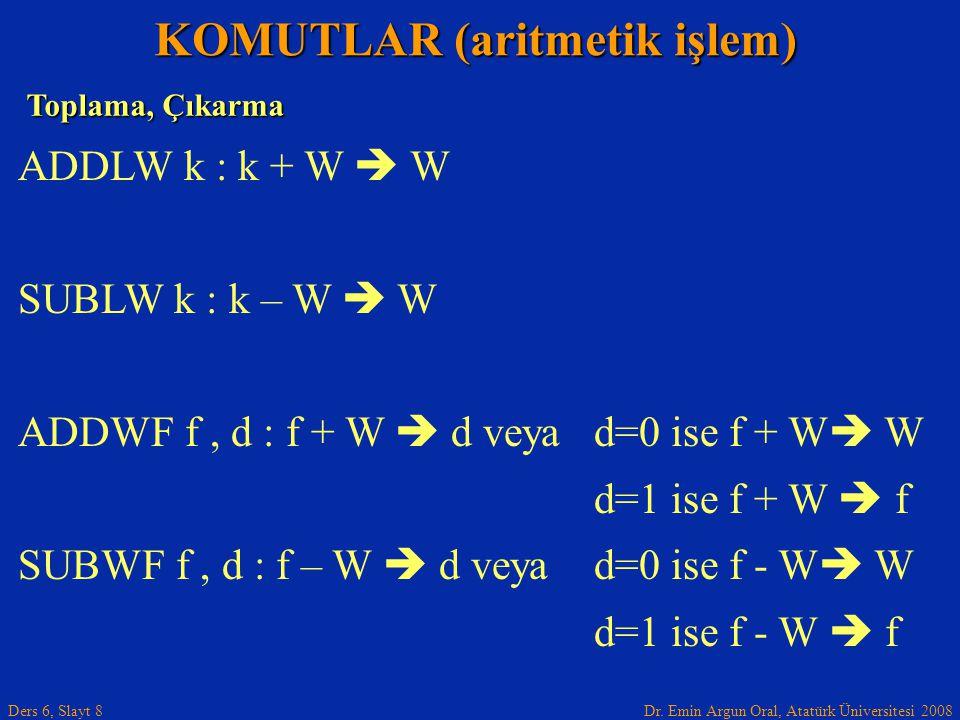 KOMUTLAR (aritmetik işlem)