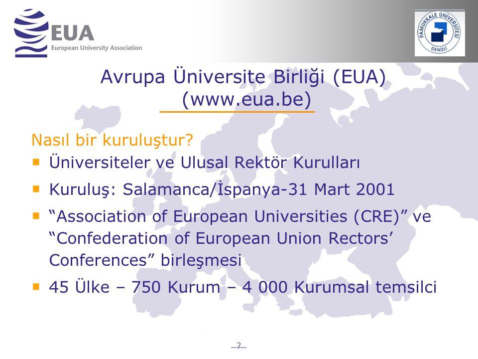 Avrupa Üniversite Birliği (EUA) (www.eua.be)