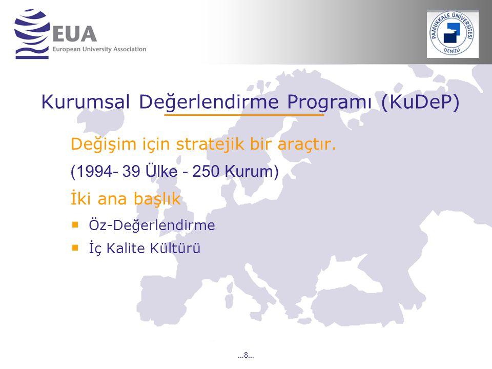 Kurumsal Değerlendirme Programı (KuDeP)
