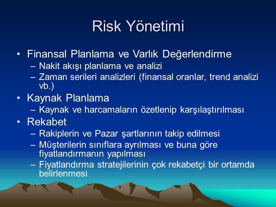 Risk Yönetimi Finansal Planlama ve Varlık Değerlendirme