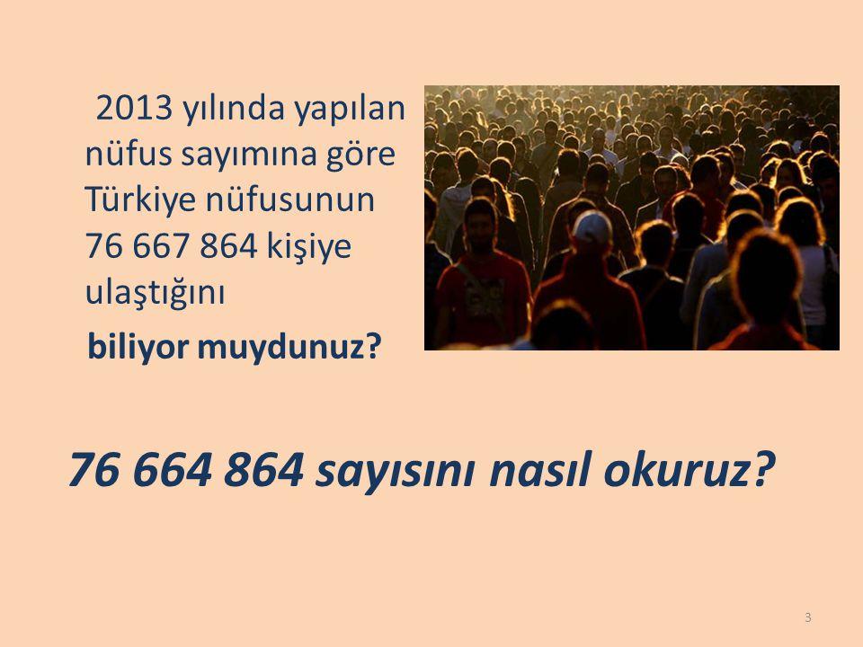 2013 yılında yapılan nüfus sayımına göre Türkiye nüfusunun 76 667 864 kişiye ulaştığını biliyor muydunuz