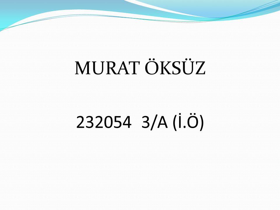 MURAT ÖKSÜZ 232054 3/A (İ.Ö)