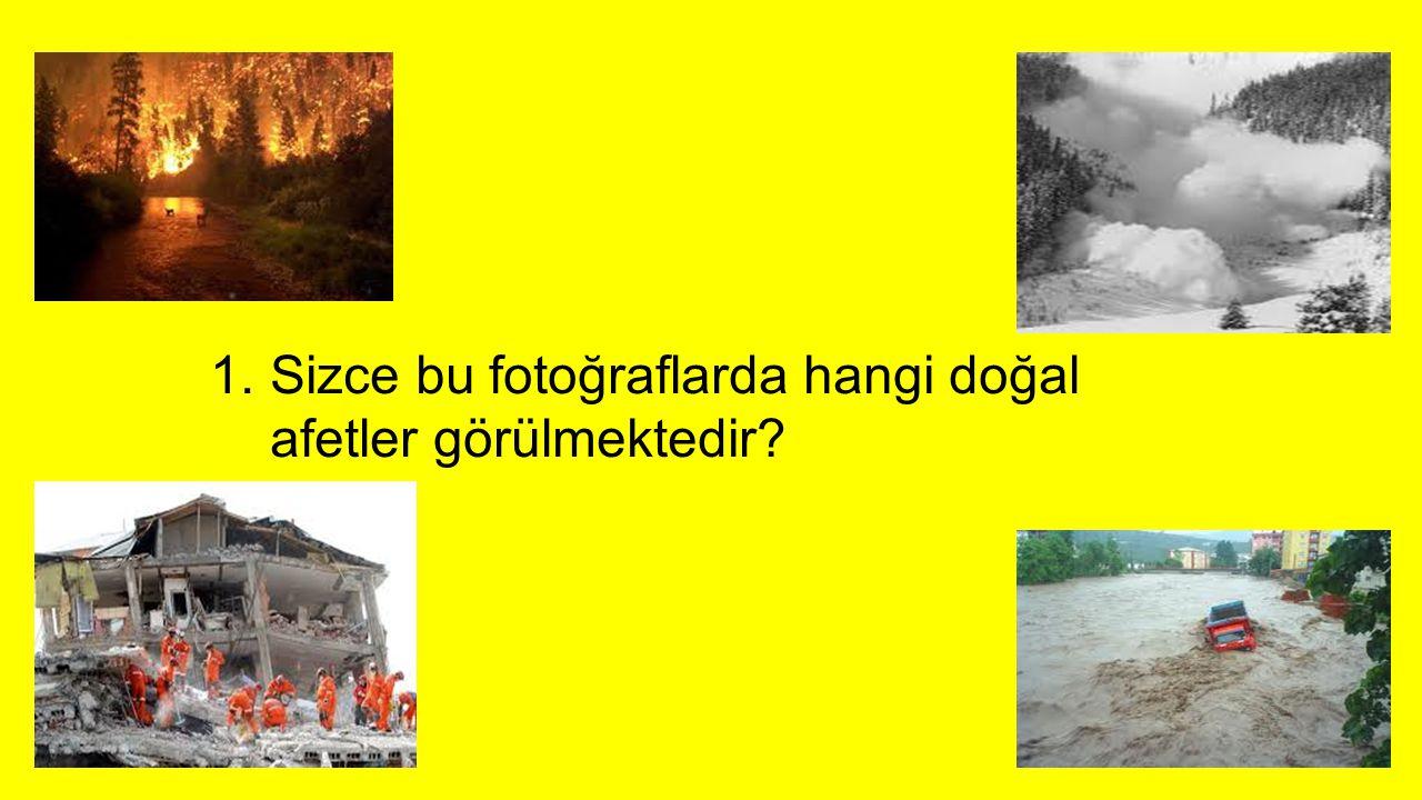 Sizce bu fotoğraflarda hangi doğal afetler görülmektedir