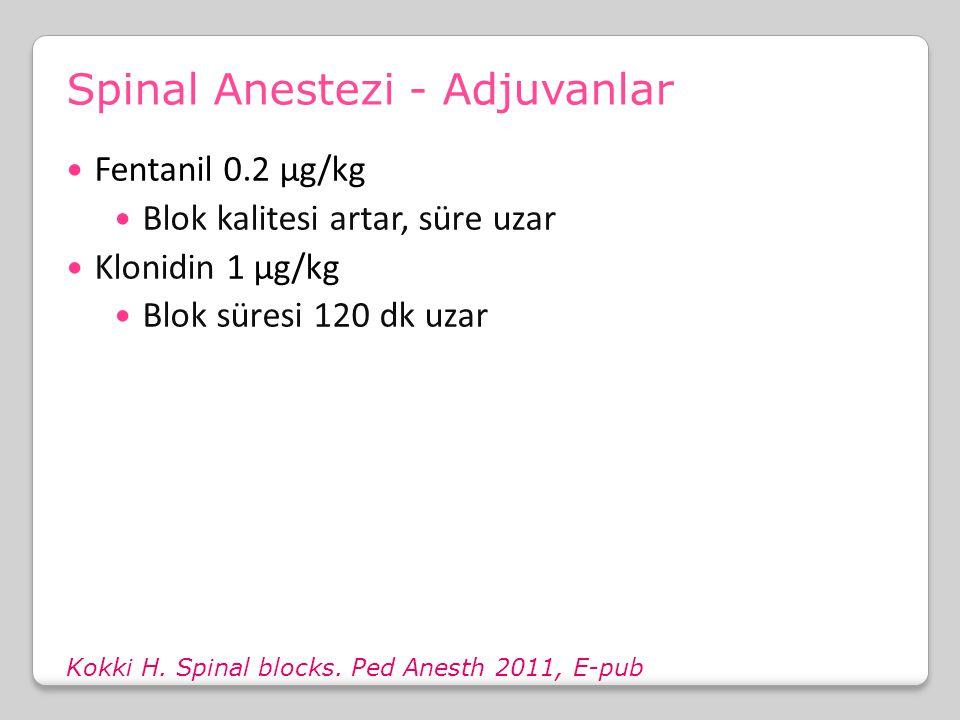 Spinal Anestezi - Adjuvanlar